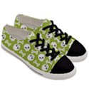 Skull Bone Mask Face White Green Men s Low Top Canvas Sneakers View3