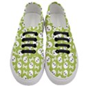 Skull Bone Mask Face White Green Women s Classic Low Top Sneakers View1
