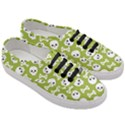 Skull Bone Mask Face White Green Women s Classic Low Top Sneakers View3