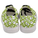 Skull Bone Mask Face White Green Women s Classic Low Top Sneakers View4