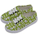 Skull Bone Mask Face White Green Kids  Classic Low Top Sneakers View2