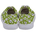 Skull Bone Mask Face White Green Kids  Classic Low Top Sneakers View4