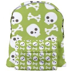 Skull Bone Mask Face White Green Giant Full Print Backpack