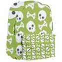 Skull Bone Mask Face White Green Giant Full Print Backpack View3