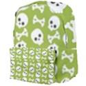 Skull Bone Mask Face White Green Giant Full Print Backpack View4