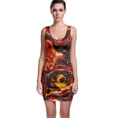 Lava Active Volcano Nature Bodycon Dress