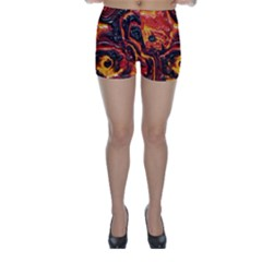 Lava Active Volcano Nature Skinny Shorts