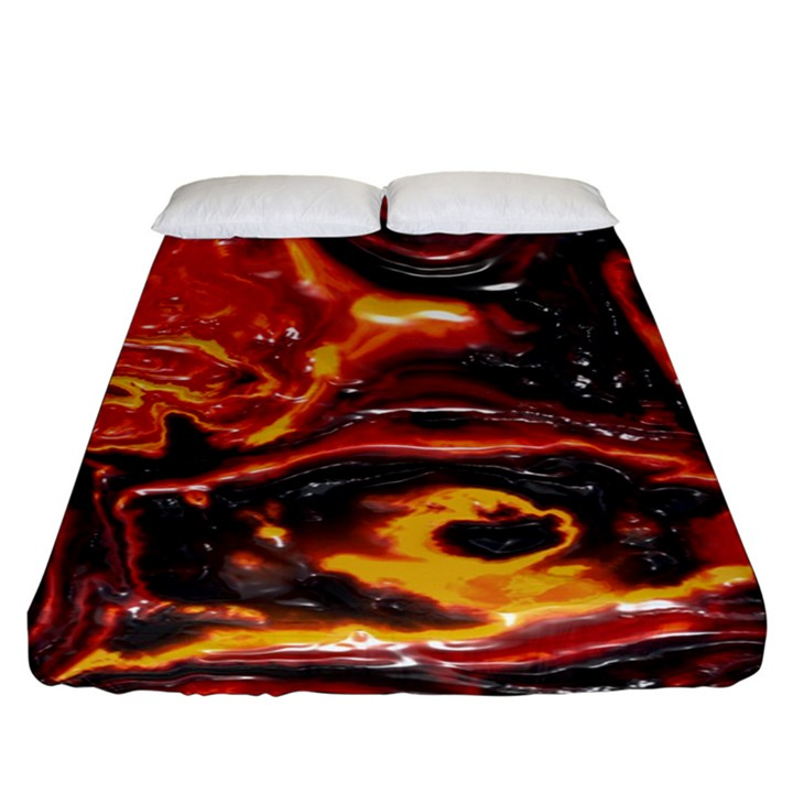 Lava Active Volcano Nature Fitted Sheet (King Size)