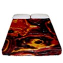 Lava Active Volcano Nature Fitted Sheet (California King Size) View1