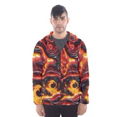 Lava Active Volcano Nature Hooded Wind Breaker (men)