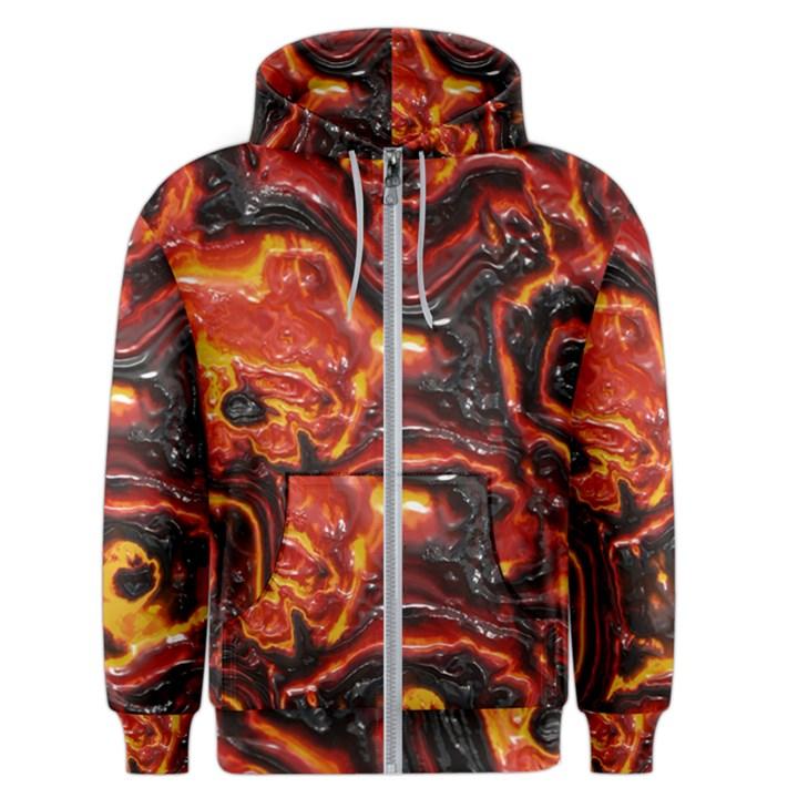 Lava Active Volcano Nature Men s Zipper Hoodie