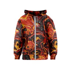 Lava Active Volcano Nature Kids  Zipper Hoodie