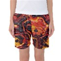 Lava Active Volcano Nature Women s Basketball Shorts View1