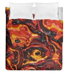 Lava Active Volcano Nature Duvet Cover Double Side (queen Size)