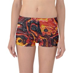 Lava Active Volcano Nature Reversible Boyleg Bikini Bottoms
