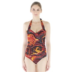 Lava Active Volcano Nature Halter Swimsuit