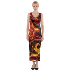 Lava Active Volcano Nature Fitted Maxi Dress