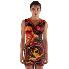 Lava Active Volcano Nature Wrap Front Bodycon Dress