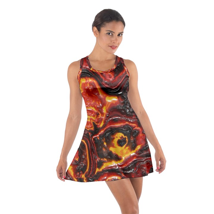 Lava Active Volcano Nature Cotton Racerback Dress