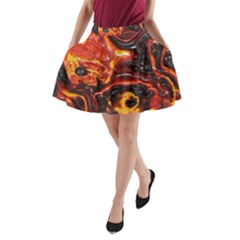 Lava Active Volcano Nature A Line Pocket Skirt