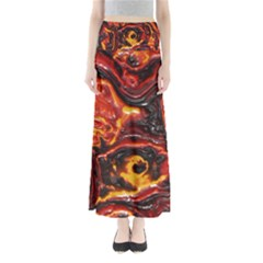 Lava Active Volcano Nature Full Length Maxi Skirt
