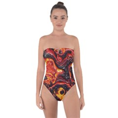 Lava Active Volcano Nature Tie Back One Piece Swimsuit