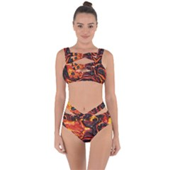 Lava Active Volcano Nature Bandaged Up Bikini Set