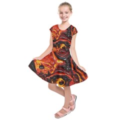 Lava Active Volcano Nature Kids  Short Sleeve Dress