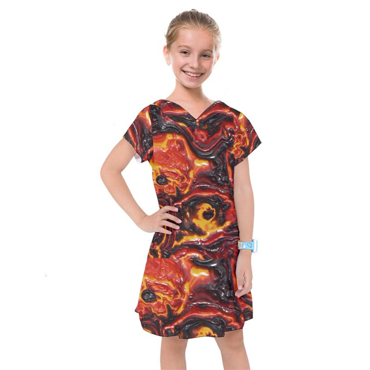 Lava Active Volcano Nature Kids  Drop Waist Dress