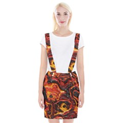 Lava Active Volcano Nature Braces Suspender Skirt