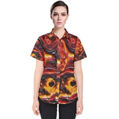 Lava Active Volcano Nature Women s Short Sleeve Shirt