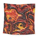 Lava Active Volcano Nature Square Tapestry (Large) View1