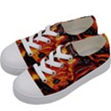 Lava Active Volcano Nature Kids  Low Top Canvas Sneakers View2