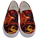 Lava Active Volcano Nature Men s Canvas Slip Ons View1
