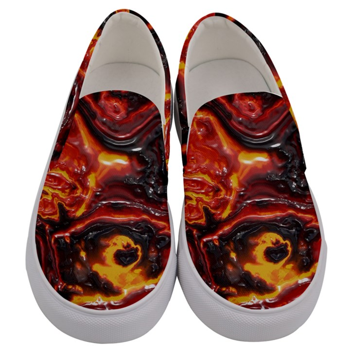 Lava Active Volcano Nature Men s Canvas Slip Ons