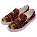 Lava Active Volcano Nature Men s Canvas Slip Ons View2