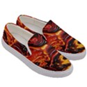 Lava Active Volcano Nature Men s Canvas Slip Ons View3