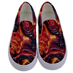 Lava Active Volcano Nature Kids  Canvas Slip Ons