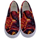 Lava Active Volcano Nature Kids  Canvas Slip Ons View1