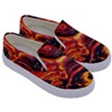 Lava Active Volcano Nature Kids  Canvas Slip Ons View3