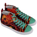 Lava Active Volcano Nature Women s Mid-Top Canvas Sneakers View3