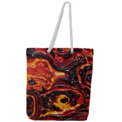 Lava Active Volcano Nature Full Print Rope Handle Tote (large)