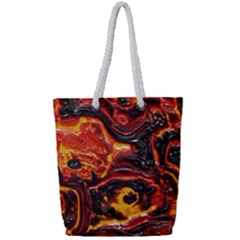 Lava Active Volcano Nature Full Print Rope Handle Tote (small)