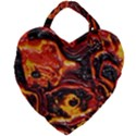 Lava Active Volcano Nature Giant Heart Shaped Tote View1