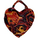 Lava Active Volcano Nature Giant Heart Shaped Tote View2