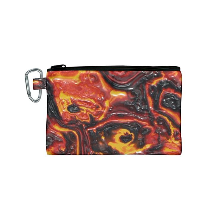 Lava Active Volcano Nature Canvas Cosmetic Bag (Small)
