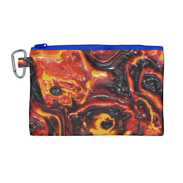 Lava Active Volcano Nature Canvas Cosmetic Bag (Large)