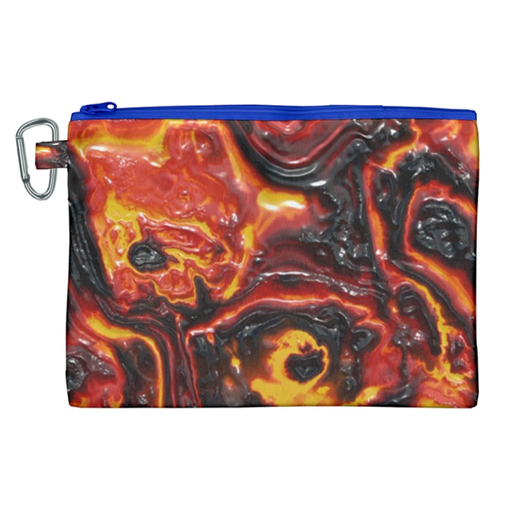 Lava Active Volcano Nature Canvas Cosmetic Bag (XL)