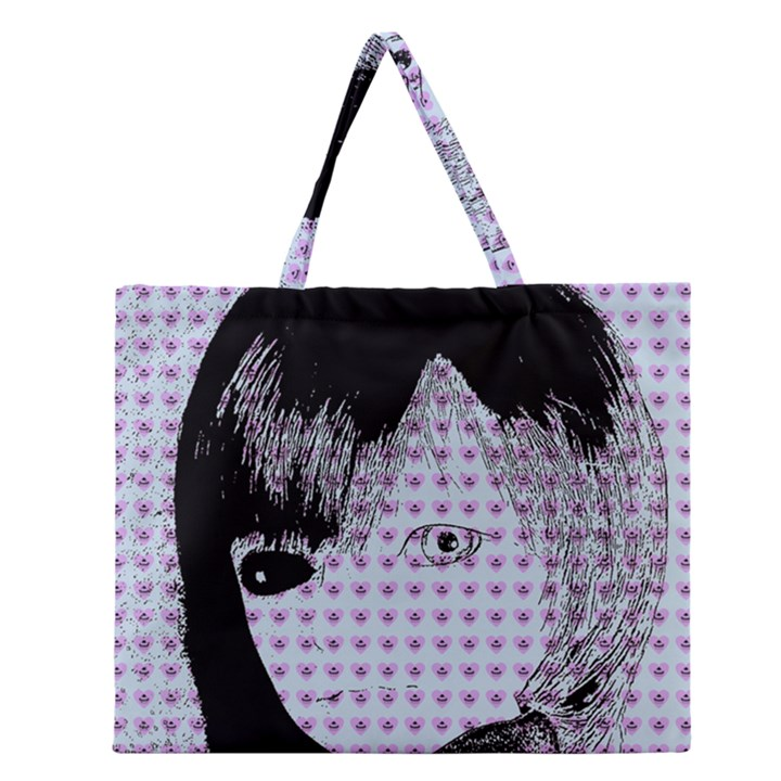 Heartwill Zipper Large Tote Bag