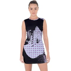 Heartwill Lace Up Front Bodycon Dress